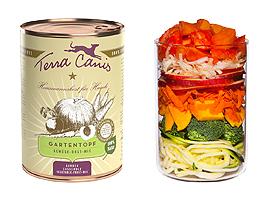 terra canis tuinpotje ervaring review hond honden voer groentemix groente blik kant en klaar wortel papaja paardebloem