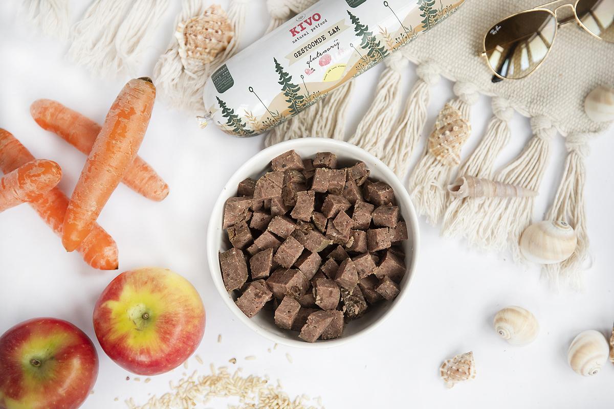 kivo houdbare worst gestoomd vlees gestoomde maaltijd vakantie kvv vers vlees hond tip alternatief